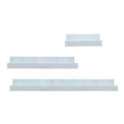 Witte Wandplanken vooraanzicht