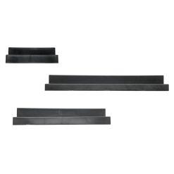 Zwarte Wandplanken vooraanzicht
