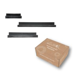 Zwarte Wandplanken in verpakking