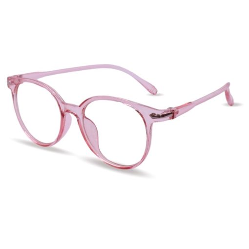 Zijaanzicht Bril Roze Transparant