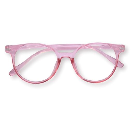 bovenaanzicht Bril Roze Transparant