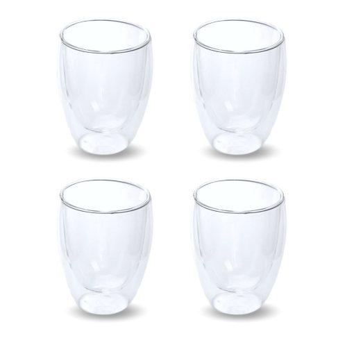 dubbelwandige glazen 4 stuks vooraanzicht