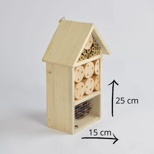Insectenhotel 25 cm afmetingen
