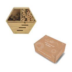 Insectenhotel hexagon in verpakking