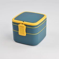 zijaanzicht Lunchbox 2 laags