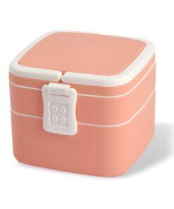 Lunchbox roze 1000 ml vooraanzicht