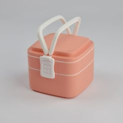 zijaanzicht Lunchbox roze 1000 ml