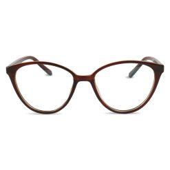 Computerbril bruin halfrond vooraanzicht