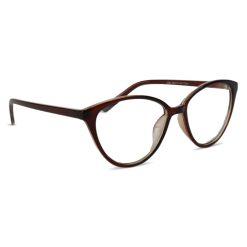 Computerbril bruin halfrond zijaanzicht