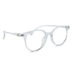 Computerbril transparant zijaanzicht