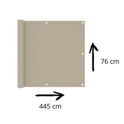 Balkonscherm crèmekleur afmetingen