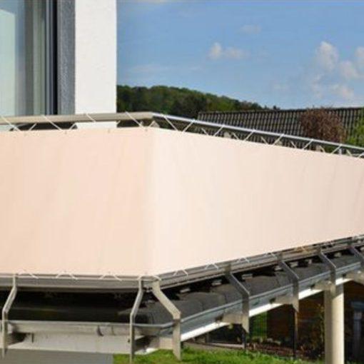 Balkonscherm crèmekleur voorbeeld