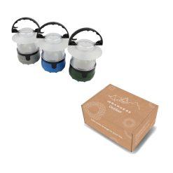 Campinglamp in verpakking