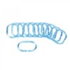 Douchegordijn ringen blauw Vooraanzicht