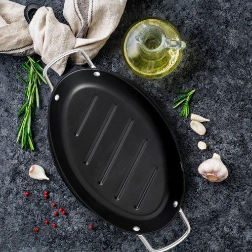 Ovale grillpan sfeer