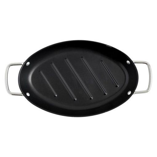 Ovale grillpan vooraanzicht