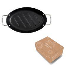 Ovale grillpan in verpakking