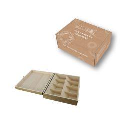 Theedoos 8 vakken verpakking