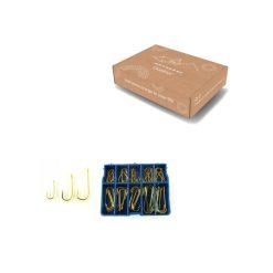 Vishaakjes maat 3 tot 12 goud verpakking