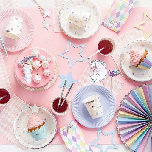 Orange85 Cupcake Vormpjes Papier met Prikkers Unicorn 12 stuks 2_sfeer