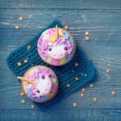 Orange85 Cupcake Vormpjes Papier met Prikkers Unicorn 12 stuks 3_sfeer