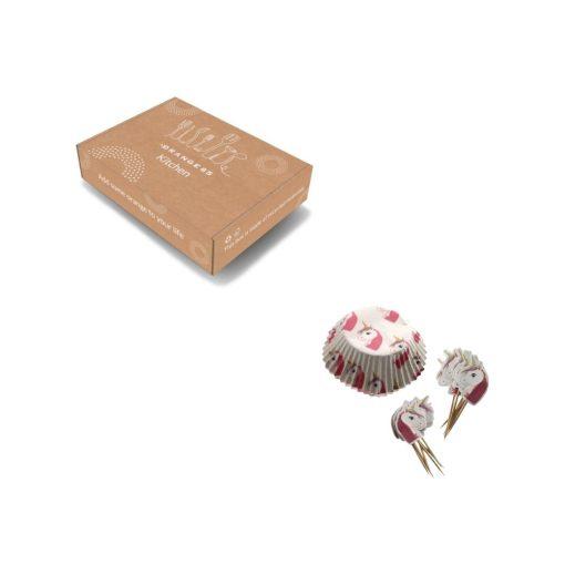 Orange85 Cupcake Vormpjes Papier met Prikkers Unicorn 12 stuks 4_verpakking