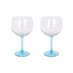 Orange85 Gin Tonic Glazen Blauw Transparant 2 stuks 1_voor