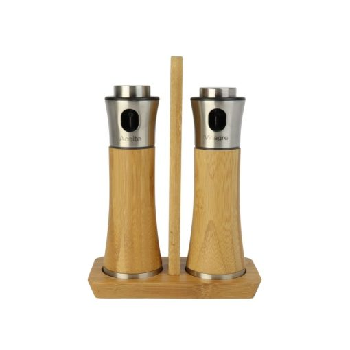 Orange85 Olie en Azijnstel Spray met Houder Bamboe 1_voor