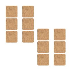 Onderzetters kurk vierkant