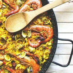 Paella pan sfeerbeeld