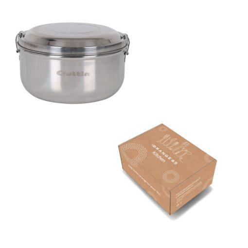 Lunchbox rvs in verpakking