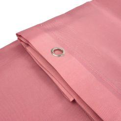 Roze douchegordijn detail