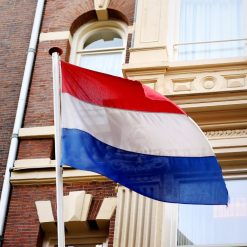 Orange85 Vlaggenstokhouder Drievoudige Vlag Staal met Toebehoren
