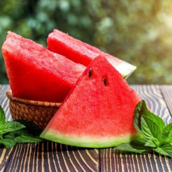 Watermeloen snijder sfeerbeeld