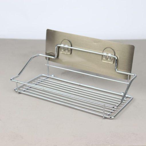 Alpina Badkamerrek Hangend Zilver 25x10x9 cm Metaal Badkamer Accessoires_detail
