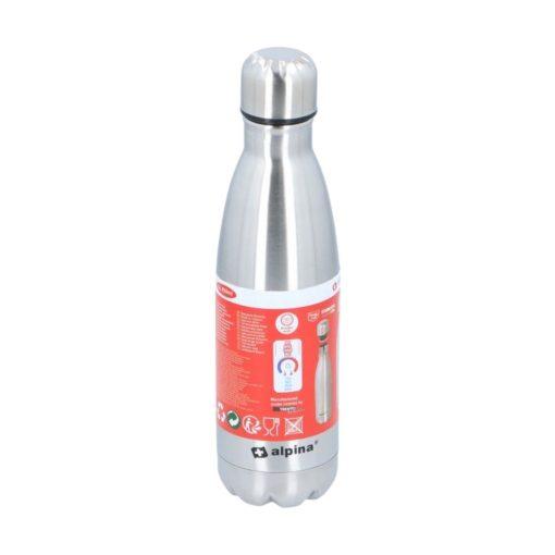 Alpina Thermosfles 500ml Zilver Isoleerfles Kampeer Accessoires 4_verpakking