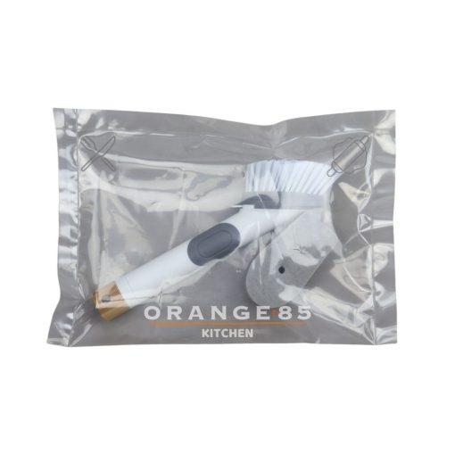 Orange85 Afwasborstel met Zeepdispenser Spons Kunststof 25cm Keuken Accessoires 5_verpakking