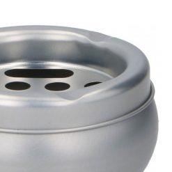 Orange85 Asbak voor Buiten Tin 10x5 cm Zilver Rookwaren