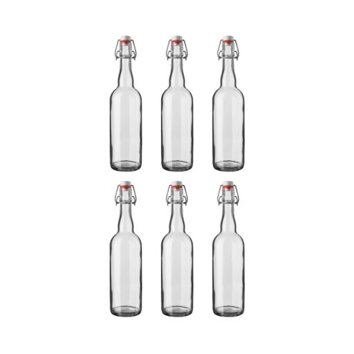 Orange85 Beugelfles 150 ml Glas Oliefles Glas met Beugelsluiting 6 stuks