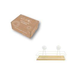 Orange85 Doucherek zonder boren Hangend Bamboe 1 Laags met Zuignappen 5_verpakking