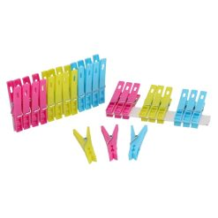 Wasknijpers multicolor vooraanzicht