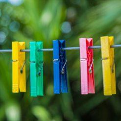Wasknijpers multicolor sfeer