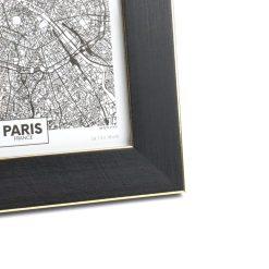 Fotolijst zwart met goud detail