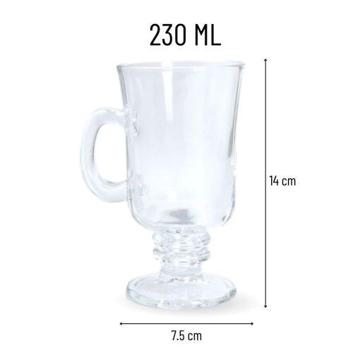 Irish Coffee Glazen 2 Stuks afmetingen