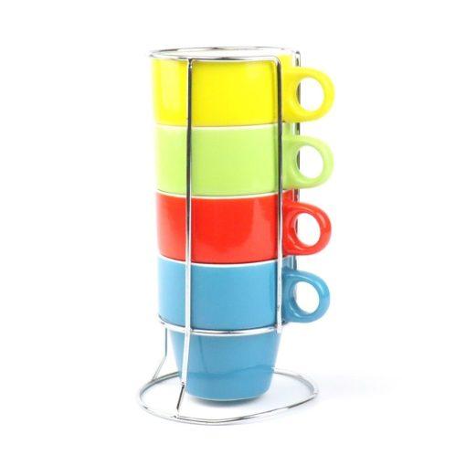 Koffiekopjes Stapelbaar vooraanzicht
