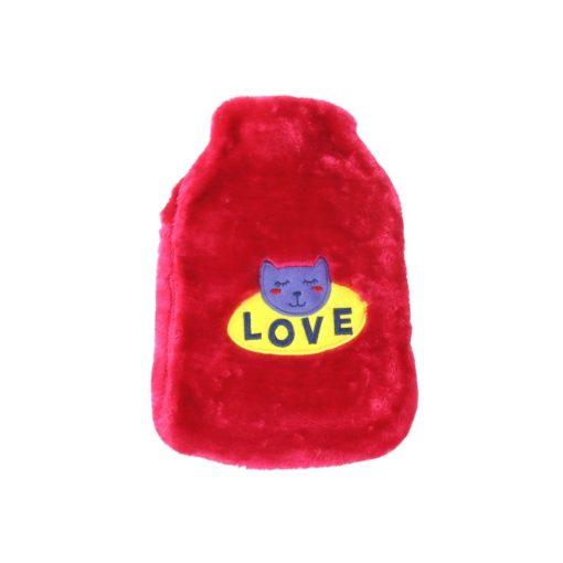 Orange85 Warmwaterkruik met Hoes Kat Roze 1,8 Liter Hot Water Bottle 1_voor