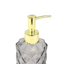 Orange85 Zeeppompje Vrijstaand 330 ml Antraciet en Goud Glas Badkamer Accessoires