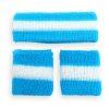 Zweetbandjes Blauw vooraanzicht