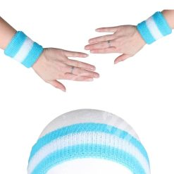 Zweetbandjes Blauw situatiebeeld