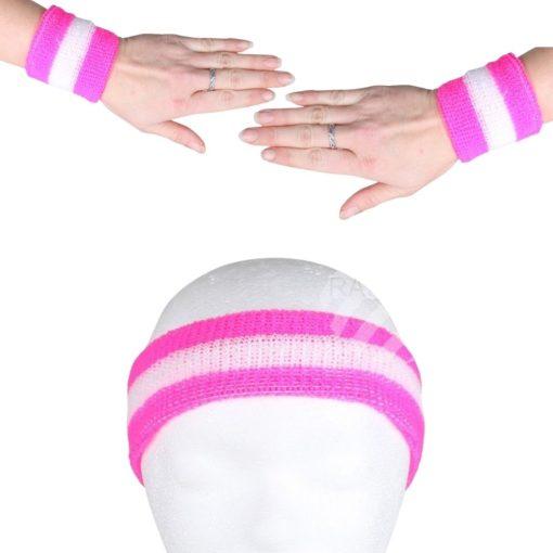 Zweetbandjes Roze situatiebeeld